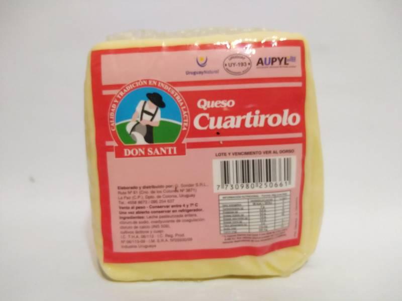 Queso Cuartirolo Don Santi al vacio x 600 gr aprox