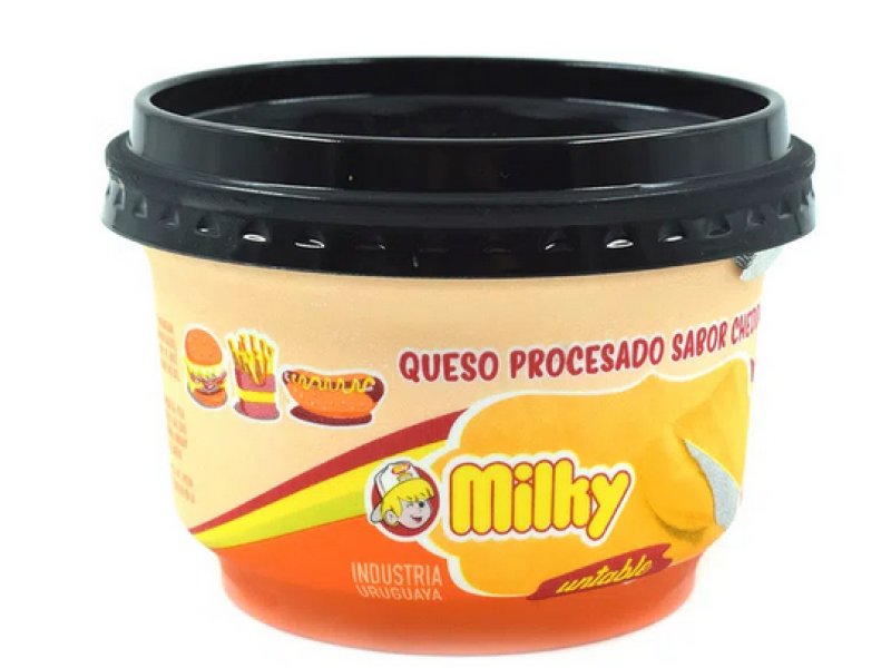 Pote salsa Cheddar Milky x 190 grs