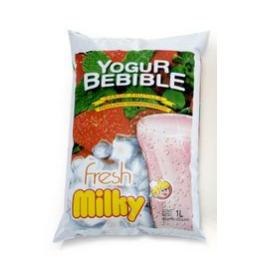 Yogur MILKY Frutilla Sachet 1 L